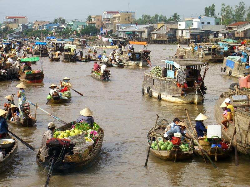 mercati galleggianti del Mekong