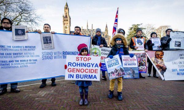 La difesa di Myanmar di Aung San Suu Kyi impressiona solo pochi fedeli