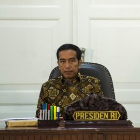 Presiden Joko Widodo memimpin Sidang Kabinet Paripurna di Kantor Presiden, Jakarta, Rabu (4/2)